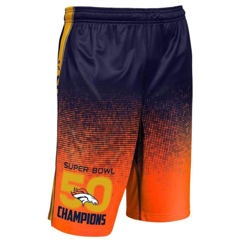 Denver Broncos Super Bowl 50 Champions Official NFL Shorts