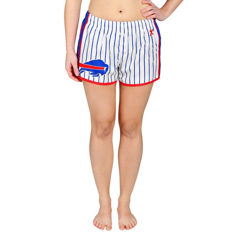 Buffalo Bills Official NFL Womens Comfy Pin Stripe Shorts