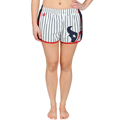 Houston Texans Official NFL Womens Comfy Pin Stripe Shorts