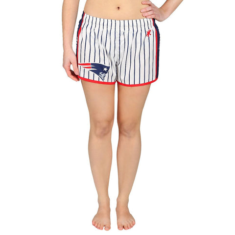 New England Patriots Official NFL Womens Comfy Pin Stripe Shorts