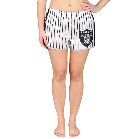 Oakland Raiders Official NFL Womens Comfy Pin Stripe Shorts