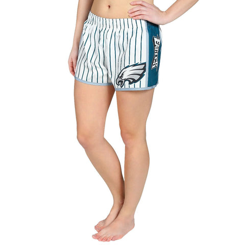 Philadelphia Eagles Official NFL Womens Comfy Pin Stripe Shorts
