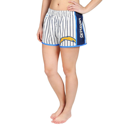 San Diego Chargers Official NFL Womens Comfy Pin Stripe Shorts