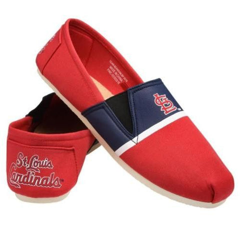 STL Cardinals Official MLB Stripe Canvas Shoes - Men