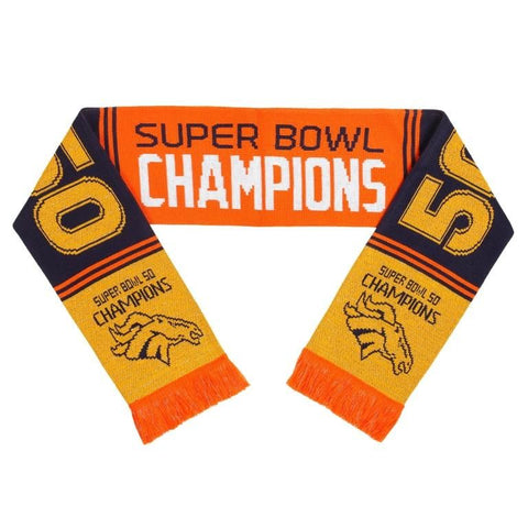 Denver Broncos Official NFL Super Bowl 50 Champions Scarf