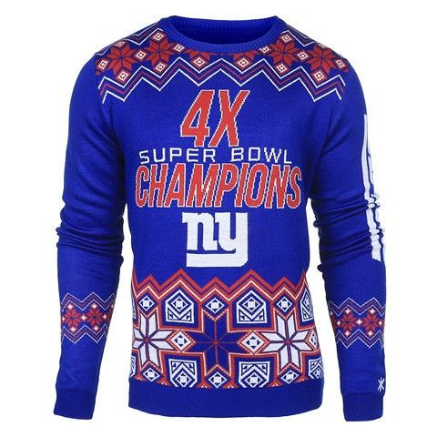 New York Giants Official NFL Super Bowl Commemorative Crew Neck Sweater
