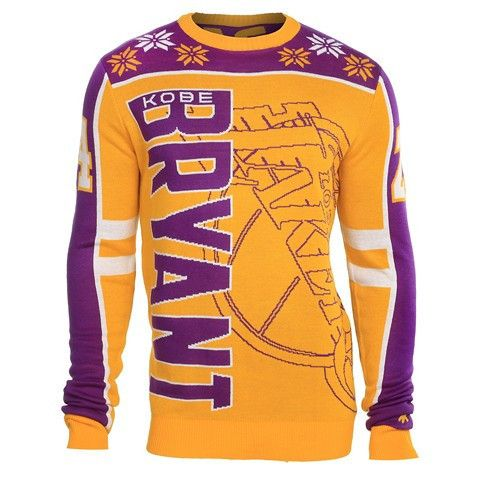 Los Angeles Lakers Bryant K. #24 Official NBA 2015 Player Ugly Sweater