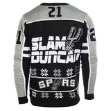 San Antonio Spurs Duncan T. #21 Official NBA 2015 Player Ugly Sweater