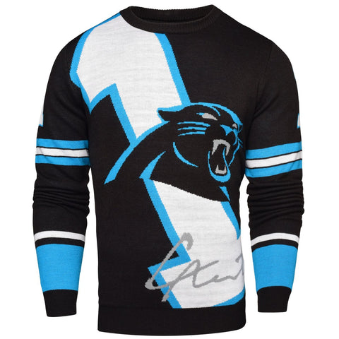 Carolina Panthers NFL Cam Newton #1 Loud Mens Player Sweater