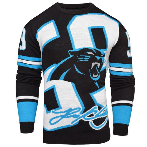 Carolina Panthes NFL Luke Keuchly #59 Loud Mens Player Sweater
