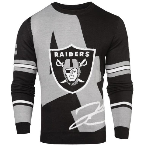 Oakland Raiders NFL D Carr #4 Loud Mens Player Sweater