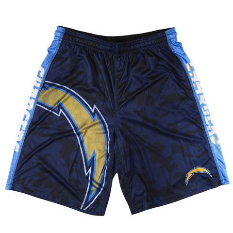 San Diego Chargers Official NFL Big Logo Camo Shorts