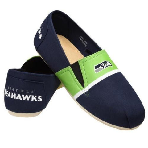 Seattle Seahawks Official NFL Stripe Canvas Shoes - Men