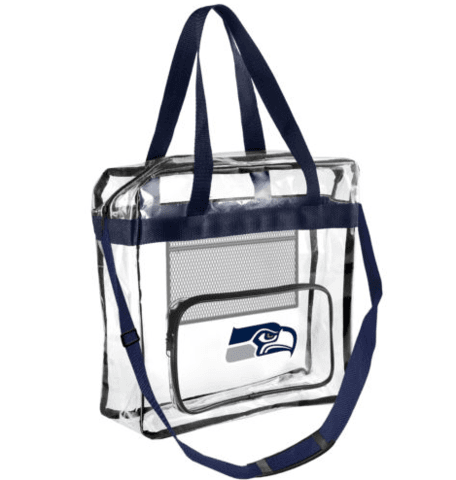 Seattle Seahawks Official NFL High End Messenger Clear Tote Bag