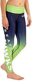 Seattle Seahawks NFL Womens Gradient Print Leggings