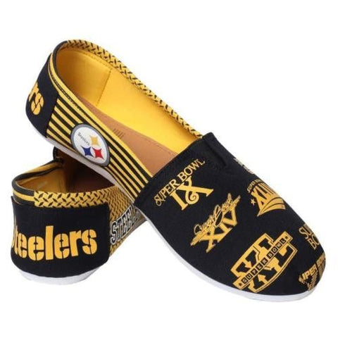 Pittsburgh Steelers Official NFL Thematic Canvas Shoes