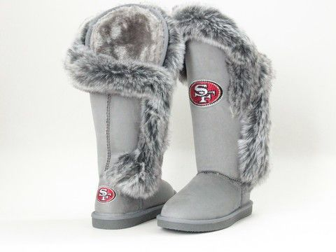 "San Francisco 49ers Women's Cuce Official NFL ""winner"" Boots"