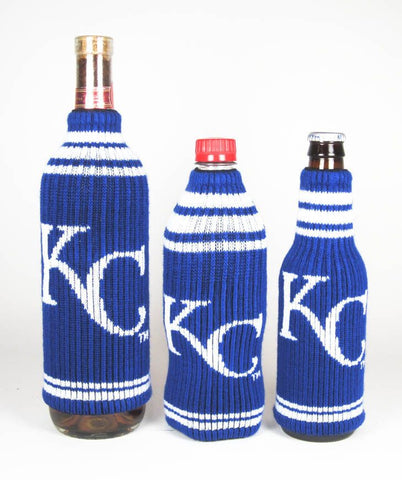 Kansas City Royals Official MLB Krazy Kovers Stretchy Woolie Bottle Cooler