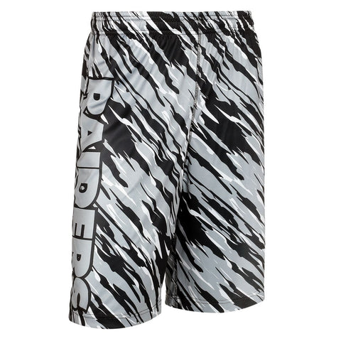 Oakland Raiders Official NFL Team Logo Polyester Repeat Print Training Shorts