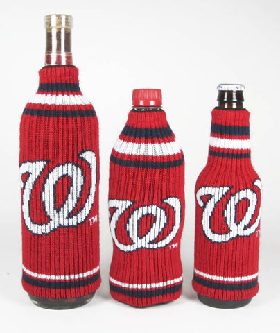 Washington Nationals Official MLB Krazy Kovers Stretchy Woolie Bottle Cooler