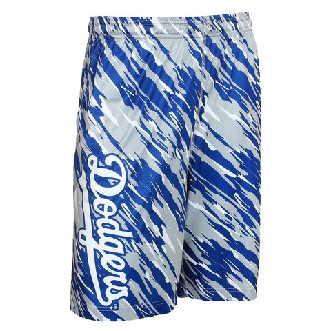 Los Angeles Dodgers Official MLB Team Logo Polyester Repeat Print Training Shorts