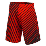 Detroit Red Wings Official NHL Team Logo Poly Stripes Boardshorts