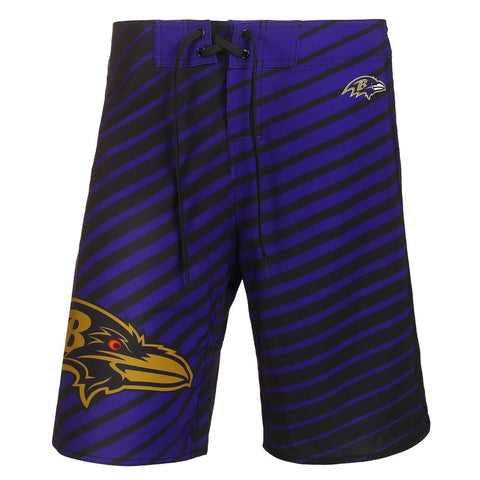 Baltimore Ravens Official NFL Poly Stripes Swimsuit Boardshorts