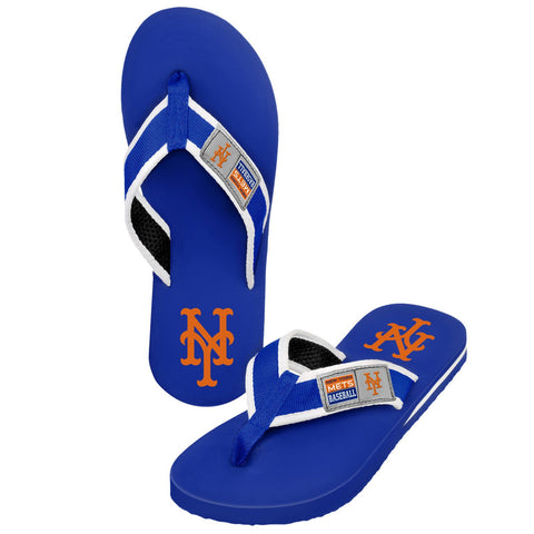 New York Mets Official MLB Locker Label Contour Thong Flip Flops