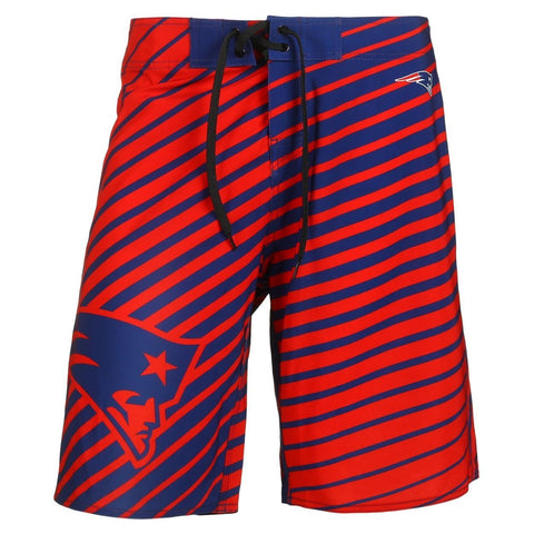 New England Patriots Official NFL Poly Stripes Swimsuit Boardshorts