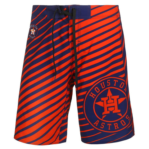 Houston Astros Official MLB Poly Stripes Swimsuit Boardshorts