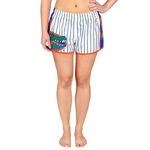 Florida Gators Official NCAA Womens Comfy Pin Stripe Shorts