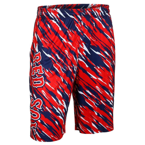 Boston Red Sox Official MLB Team Logo Polyester Repeat Print Training Shorts