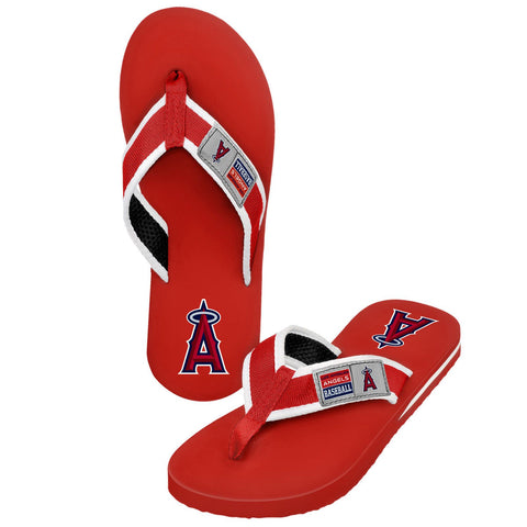 Los Angeles Angels Official MLB Locker Label Contour Thong Flip Flops