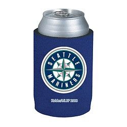 Seattle Mariners Official MLB Beer Can Collapsible Holder Neoprene Cooler