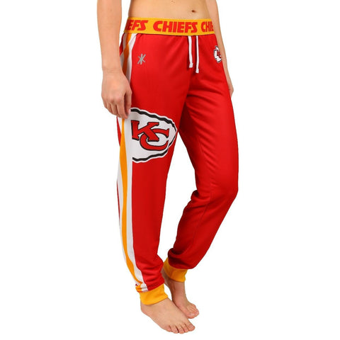 Kansas City Chiefs Official NFL Womens Poly Fleece Jogger Pants