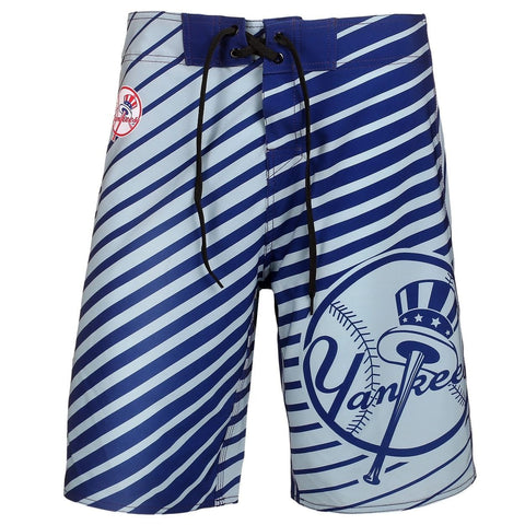 New York Yankees Official MLB Poly Stripes Swimsuit Boardshorts