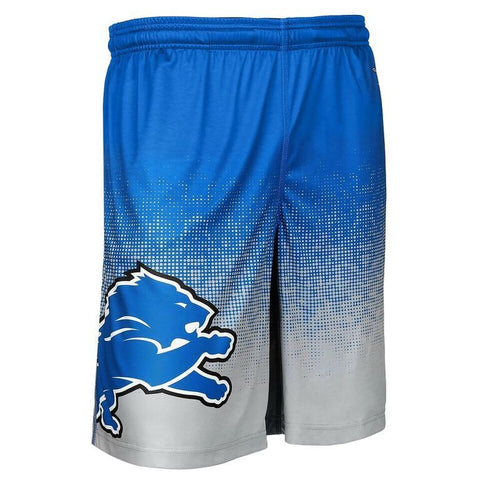 Detroit Lions Official NFL Gradient Polyester Drawstring Shorts