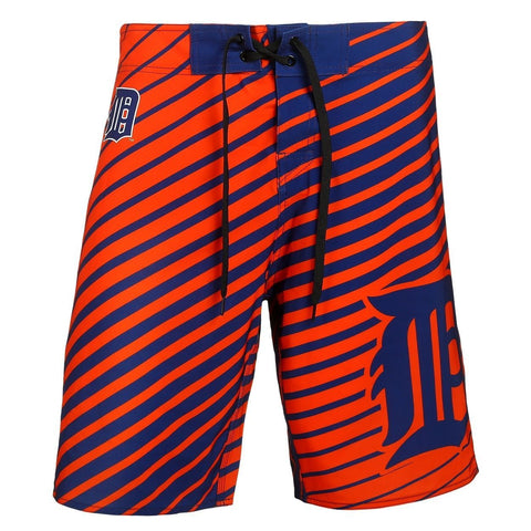 Detroit Tigers Official MLB Poly Stripes Swimsuit Boardshorts