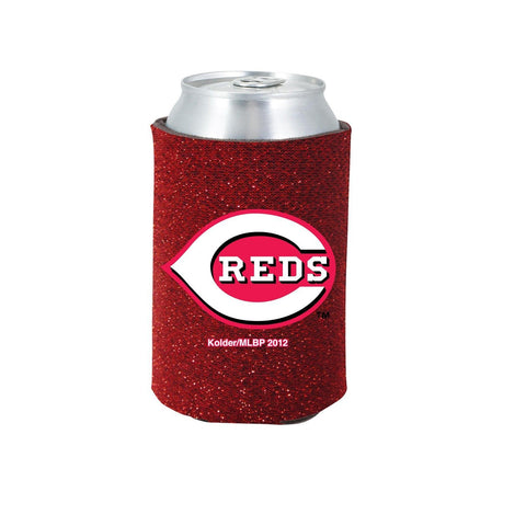 Cincinnati Reds Official MLB Glitter Can Collapsable Beer Holders