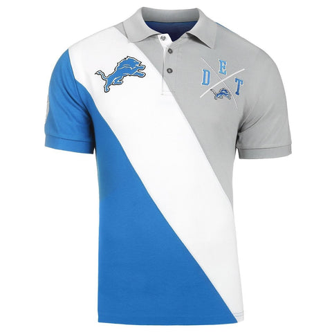 Detroit Lions Official NFL Diagonal Stripe Polo
