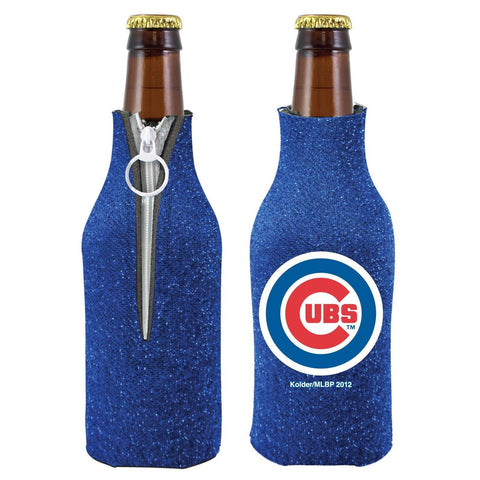 Chicago Cubs Official MLB Licensed Glitter Bottle Cooler Huggie