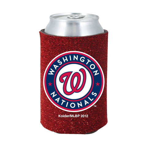 Washington Nationals Official MLB Glitter Can Collapsable Beer Holders
