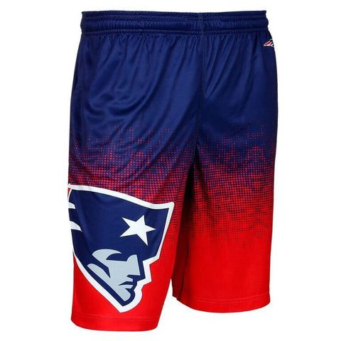 New England Patriots Official NFL Gradient Polyester Drawstring Shorts
