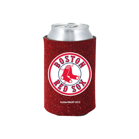 Boston Red Sox Official MLB Glitter Can Collapsable Beer Holders
