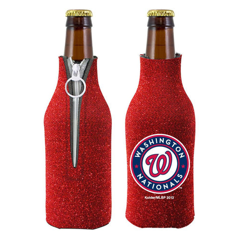 Washington Nationals Official MLB Licensed Glitter Bottle Cooler Huggie