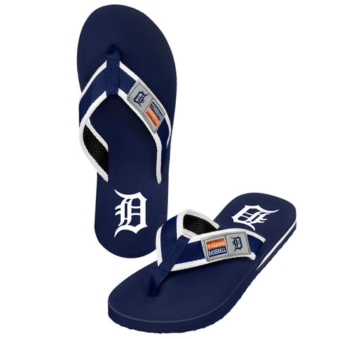 Detroit Tigers Official MLB Locker Label Contour Thong Flip Flops