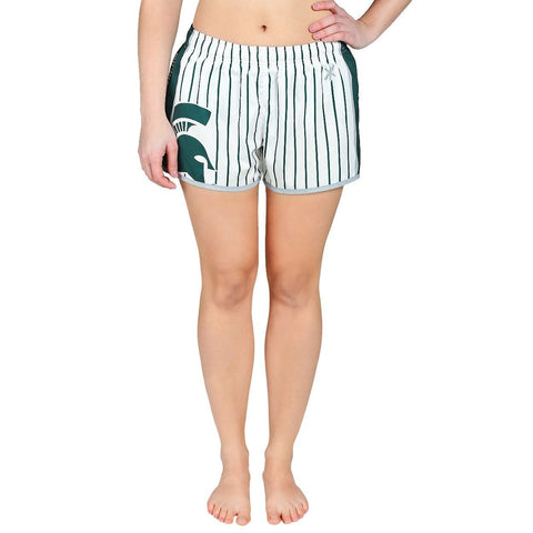 Michigan State Spartans Official NCAA Womens Comfy Pin Stripe Shorts