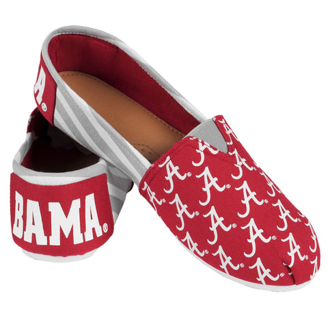 Alabama Crimson Tide Official NCAA Stripe Canvas Shoes