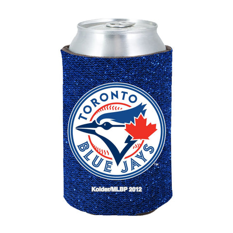 Toronto Blue Jays Official MLB Glitter Can Collapsable Beer Holders
