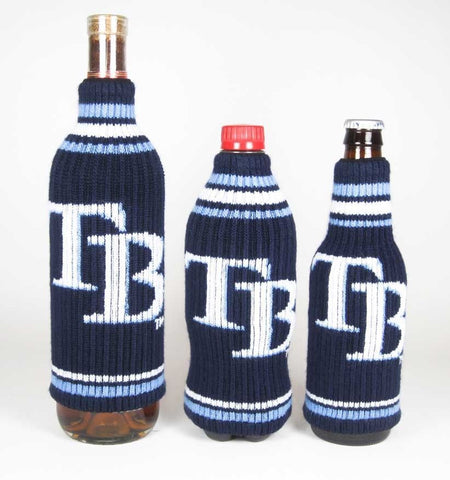 Tampa Bay Rays Official MLB Krazy Kovers Stretchy Woolie Bottle Cooler